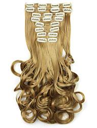 желтый длина 60см синтетический парик оптовые завитки (цвет 1011)