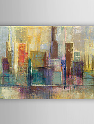 Hand Painted Oil Painting Landscape Abstract City View with Stretched Frame 7 Wall Arts®