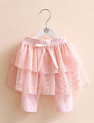 Summer Style 2016 Girls Candy Color Lace Cotton Shorts With Skirt Princess Baby Girl Pant Skirt