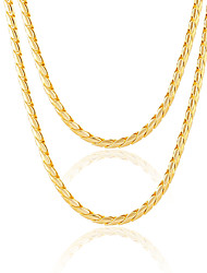 Necklace Chain Necklaces Jewelry Wedding / Party / Daily / Casual / Sports Alloy / Gold Plated Gold 1pc Gift