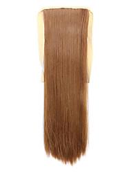 borwn comprimento 60 centímetros tipo de ligação sintética reta longa peruca de cabelo de rabo de cavalo (27x cor)