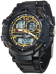 Мужской Спортивные часы Цифровой LCD / Календарь / тревога / Светящийся / Хронометр Pезина Группа Черный бренд-