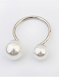 Ringe Damen Künstliche Perle Legierung Legierung Verstellbar / 6 Silber