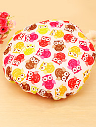 Thick High Quality Beautiful Printed Cotton EVA Fabric Shower Caps