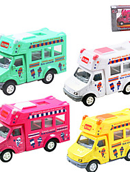 Dibang - children's educational toys car pull back alloy car model toy ice cream cars (4PCS)