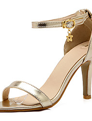 Women's Shoes Stiletto Heels/Open Toe Sandals Party & Evening/Dress Pink/Gray/Gold