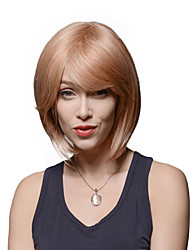 Graceful Short Capless Bob Style Remy Human Hair Hand Tied -Top Emmor Wigs