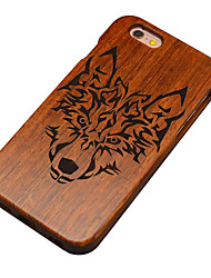 For iPhone 6 Case / iPhone 6 Plus Case Pattern / Embossed Case Back Cover Case Animal Hard Wooden for iPhone 6s Plus/6 Plus / iPhone