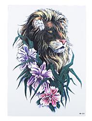 8PCS King of Forest Lion Pattern Decal Design Waterproof Temporary Tattoo Women Men Body Art Tattoo Sticker Profession