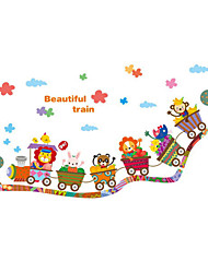 Cartoon Design / Transport Wand-Sticker Flugzeug-Wand Sticker,PVC 40*60 cm(15.75*23.62 inch)