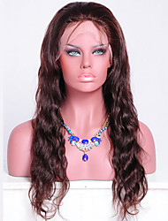 Virgin Brazilian Glueless 130 Density Human Hair Lace Wigs with Natural Looking Loose Wave Lace Front Wig