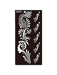 1pc Temporary Tattoo Henna Fake Black Flower Stencil Body Art Tattoo Airbrush Printing Product Sticker S234