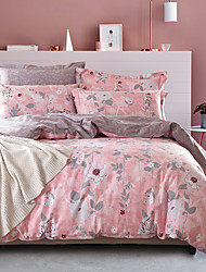 4PC Duvet Cover Set  Fresh Style Cotton Pattern Queen King Size