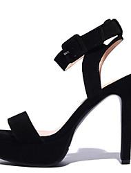 Zapatos de mujer-Tacón Stiletto-Tacones / Plataforma-Sandalias-Oficina y Trabajo / Vestido / Fiesta y Noche-Ante-Negro