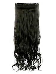 Black Length 70CM Synthetic Curly Hair Non-Trace Five Clip Hair Hair Slice Of A Chip(Color Natural black)