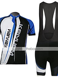 KEIYUEM®Others Men's Cycling Jersey Short Sleeves + BIB Shorts ropa ciclismo Cycling clothing Suits #52