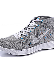 Nike Flyknit High Men's Sneaker Shoes Fabric Blue / Green / Gray