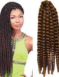 crochet trança havana mambo extensão do cabelo torção afro 12-24 polegadas 27 # com agulha de crochê