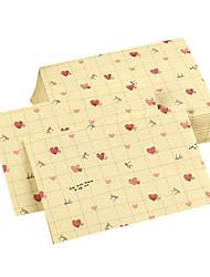 enveloppe de coeur d'amour de temps doux (10 pièces)