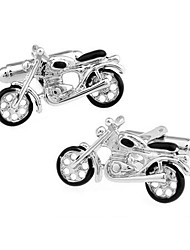 Men's Fashion Motor Style Silver Alloy French Shirt Cufflinks (1-Pair) Christmas Gifts