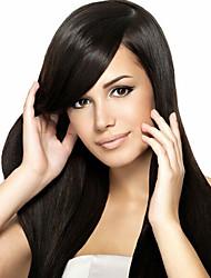 en stock de 100% brésilien soie cheveux humains droite couleur naturelle perruque avant de lacet&u partie perruque