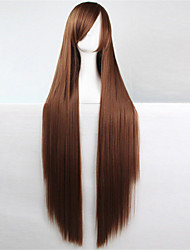Europe And The United States The New Color Wig 100 CM High Temperature Silk Long Dark Brown Hair