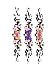 3D Large Colorful Butterfly Flowers Designer Blood Temporary Flash Tatoo Sticker Taty