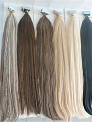 "18""-30"" Unprocessed Human Virgin Tape Hair Extension PU Skin Weft Hair Extension In Stocks"