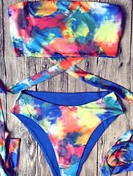 Womens Sexy Colorful Bandage Swimsuit Bikini