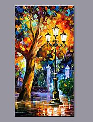 grande tamanho da tela de pintura a óleo pintados à mão moderna arte da parede paisagem abstrata, com quadro esticado pronto para pendurar
