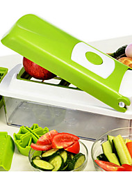 1 ед. Apple Морковь Оранжевый Лук Огурец Томатный Cutter & Slicer For Для фруктов Для овощного Нержавеющая стальМногофункциональный