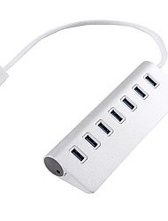 USB 3.0 7 portas / interface de alumínio usb hub 17 * 3 * 5.5