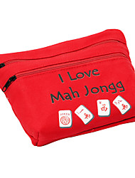 Royal St. 23 Mm Miniature Crystal Mahjong Mahjong Matchs With The Aureate/Cloth Bag For Traveling Black Cloth Bag