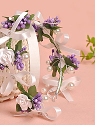 Women's Tulle / Imitation Pearl / Fabric Headpiece-Wedding / Special Occasion / Casual / Outdoor Flowers 1 Piece