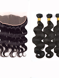 Slove Hair 7A Ear to Ear Lace Frontal Closure With Bundles Body Wave Peruvian Virgin Hair With Closure Full Frontal