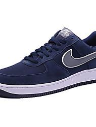Sapatos Tênis Masculino Marrom / Azul Marinho Couro