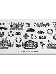 BlueZOO Rectangle Printing Nail Art Stamping (C-005)