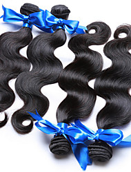 "3Pcs/Lot  8""-30""  Brazilian Virgin Hair Human Hair Body Wave Brazilian Virgin Hair Body Weaves natural black Bundles"