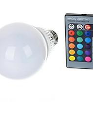10W E26/E27 Ampoules Globe LED A70 1 LED Haute Puissance 600-900 lm RVB Commandée à Distance AC 85-265 V 1 pièce