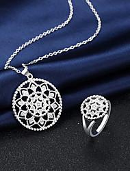 Schmuck Halsketten Ringe Halskette / Ring Künstliche Perle Hochzeit Party Alltag Normal 2 Stück Damen Silber Hochzeitsgeschenke