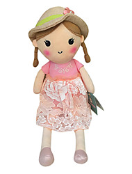 Genuine Spring Girl Doll Plush Toy Doll Baby Doll To Appease Doll Gift Girls Hat Pink Skirt Sitting Height 35Cm