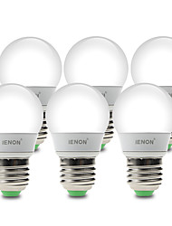 3W E26/E27 LED Kugelbirnen G60 6 SMD 210-240 lm Warmes Weiß / Kühles Weiß Dekorativ AC 100-240 V 6 Stück