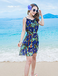 2016 Summer Women's Bohemian Beach Flower Print Dress
