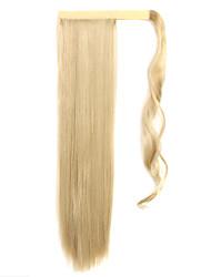 белое золото 60см синтетический высокая температура проволоки парик прямые волосы конский хвост цвет 16/613