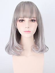 perruques synthétiques de haute qualité couleur grise lolita perruques naturelles à haute température résistant à la chaleur