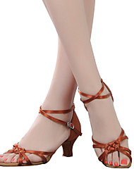 Women's Dance Shoes Belly / Latin / Dance Sneakers / Modern / Swing Shoes / Salsa / Samba Satin / Synthetic Cuban Heel