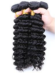 Cheap Virgin Hair Brazilian Deep Wave 4pcs/Lot Brazilian Virgin Hair Weave Deep Curly Human Hair Extension Free Shipping