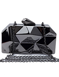 L.WEST Women's Irregular Lozenge Tin Box Evening Bag