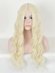 Fashion Natural Golden Waves of High Quality Blonde Color Synthetic Hair