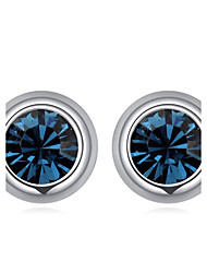 Earring Stud Earrings Jewelry Women Wedding / Party / Daily Crystal / Gold Plated 1 pairDark Blue / Light Blue / Light Green / White /